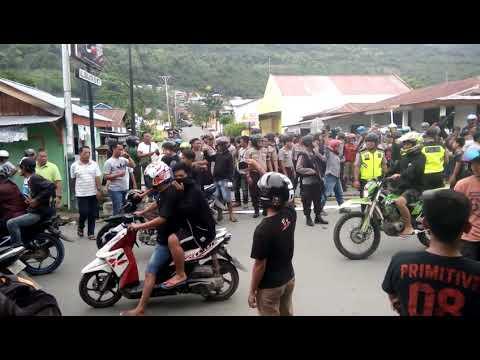 Detik2 Bentrok warga di Luwuk, Kabupaten Banggai