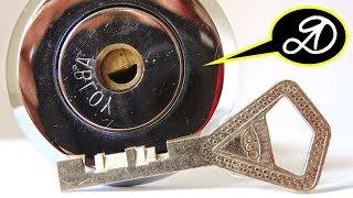 Как вытащить сломанный ключ из замка. Лайфхак. Дисковый замок, финский ключ (полукруглый)