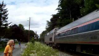 PG13!:  Duo Of Teenagers Force Amtrak 55 Into Emergincy, At Amherst,  MA