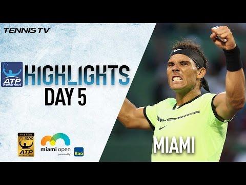 Nadal Nishikori Sock Win In Miami 2017 Sunday Highlights