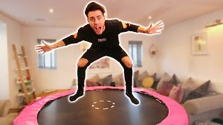 TURNING MY GIRLFRIENDS ROOM INTO A TRAMPOLINE PARK
