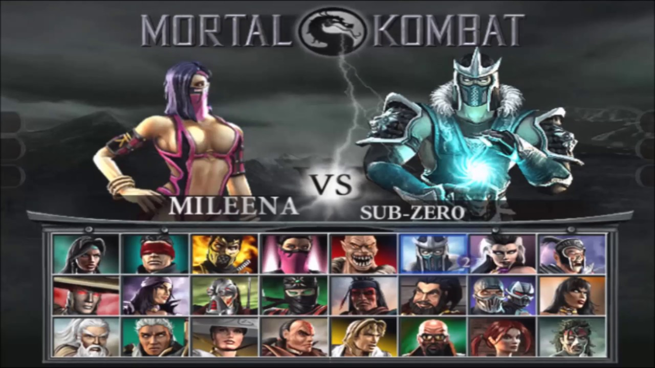 Image result for mortal kombat deception select screen