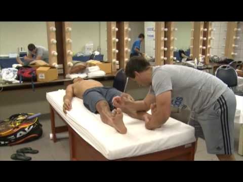 Osteopathic diagnosis and treatment of a professional tennis player