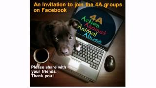 An Invitation to join the Action Against Animal Abuse (4A) groups on Facebook