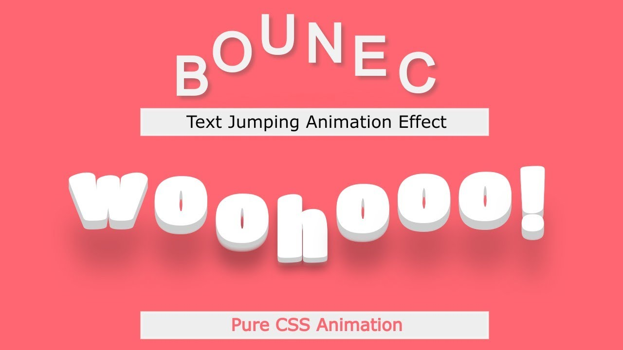 Bounce Text: Bouncing Text Animation in Pure CSS | Text Jumping Animation in CSS