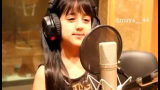 Sweet girl  sing  a song and lovely  voice