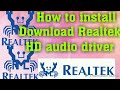 How to install & Download Realtek HD audio drivers in windows 7