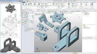 ZW3D Training 3D Modeling Tutorial For Beginner | 5 Models | Live Streaming