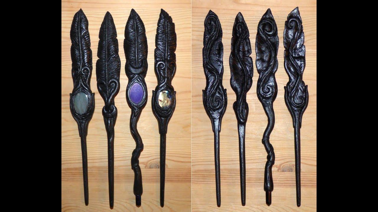 Raven Feather hair sticks Rabenfeder Haarstäbe Goa Gothic