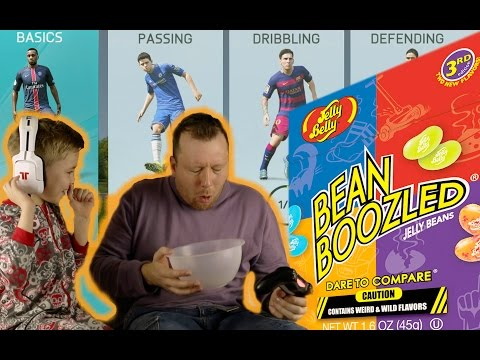 FIFA 16 BEAN BOOZLED CHALLENGE DAD VERY GROSS JELLY BEANS
