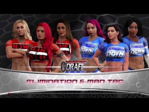 WWE 2K17: DRAFT 6-WOMAN ELIMINATION TAG TEAM #RAW VS #SMACKDOWN