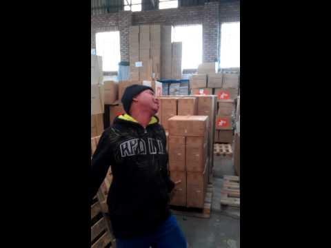 Happy Hour at work Singing worker