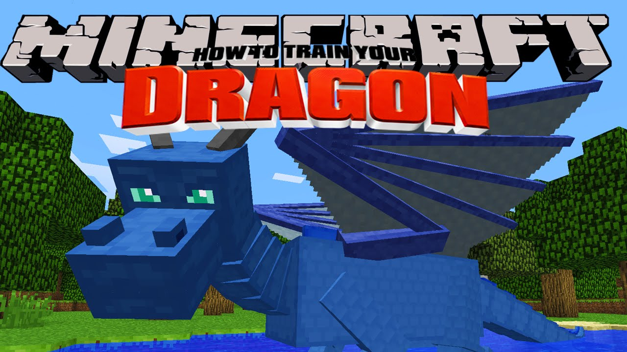 Minecraft - HOW TO TRAIN YOUR DRAGON - Splash the Water Dragon [2 ...
