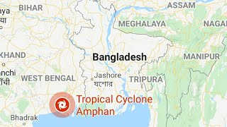 Super Cyclone Amphan Live Update On Google Map.