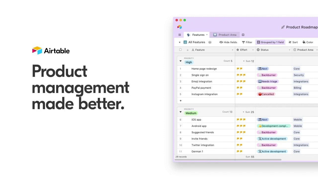 Product management made better with Airtable