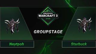 WC3 - Neytpoh vs. Starbuck - Groupstage - DreamHack WarCraft 3 Open: Summer 2021 - Europe