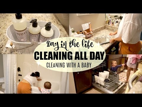 DAY IN THE LIFE | CLEANING ALL DAY | EXTREME CLEANING MOTIVATION