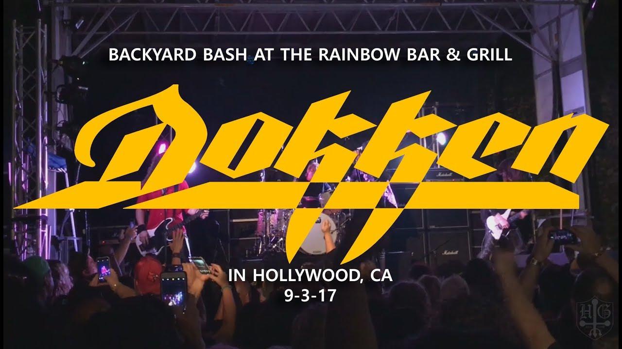 Dokken Backyard Bash Rainbow Bar Grill In Hollywood Ca 9 3 17
