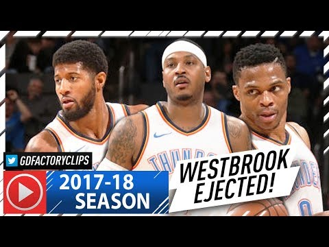 Russell Westbrook, Paul George & Carmelo Anthony BIG 3 Highlights vs Kings (2018.01.15) - TOO GOOD!