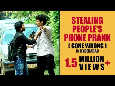 Stealing People's Phone Prank ( GONE WRONG ) in Hyderabad |