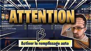 FILLING AUTO SECTION WARNING - FortNITE SAVE THE WORLD