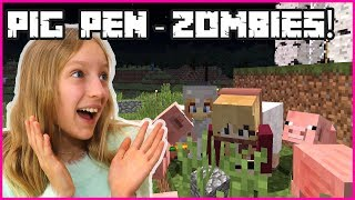 Making a PIG PEN - Protecting Pigs from Zombies!
