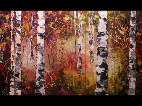 Birch Trees Paintings on canvas | ART by LENA