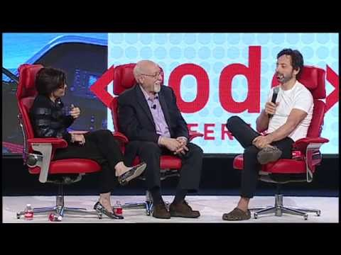 Google co-founder Sergey Brin was the comic relief at #codecon