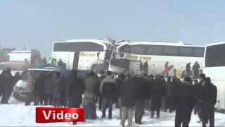 Muşta iki otobüs kafa kafaya çarpıştı 4 ölü, 15 yaralı