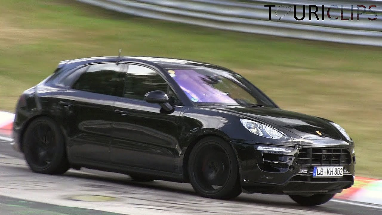porsche macan turbo s spied testing on the n rburgring youtube. Black Bedroom Furniture Sets. Home Design Ideas
