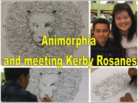 Animorphia Colouring Book And Meeting Kerby Rosanes