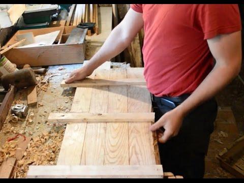 faire main: porte de cuisine en bois de récupération sans vis, détaillé avec astuces part3