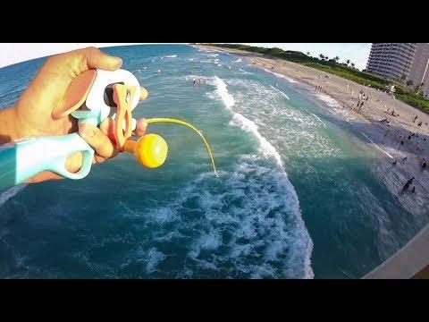 Micro Fishing Pole Against Juno Pier Snook!