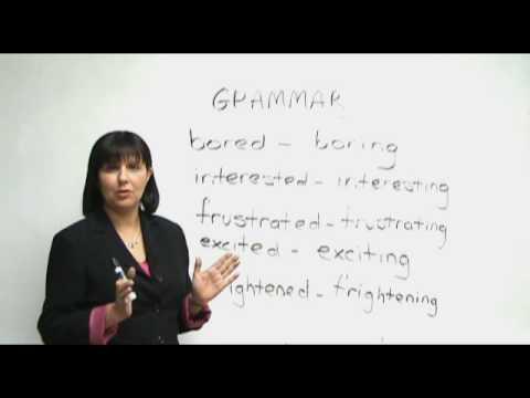 English Grammar - Are you bored or boring?