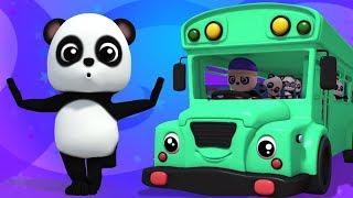 колеса на автобусе   детские рифмы   автобусная песня в россии   Baby Bao Panda   wheels on the bus