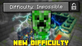 I Beat Minecraft on IMPOSSIBLE DIFFICULTY! (it was scary)