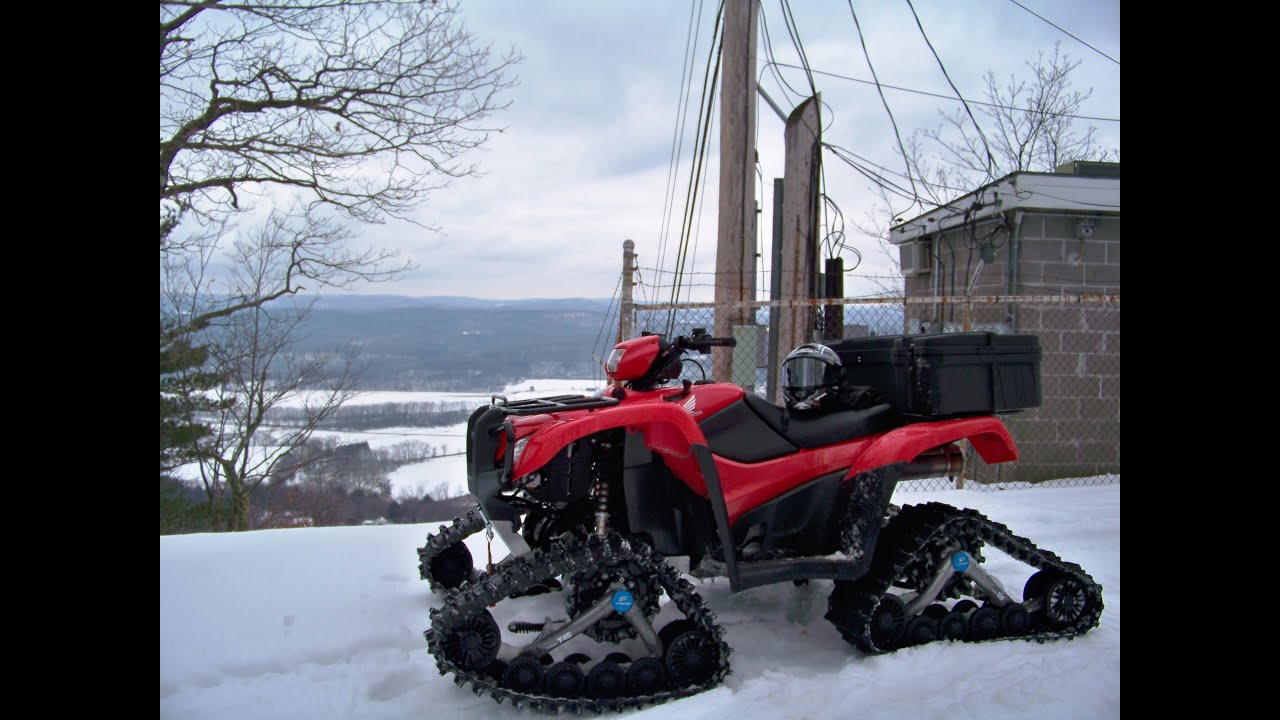 New Honda Atv With Tracks Youtube