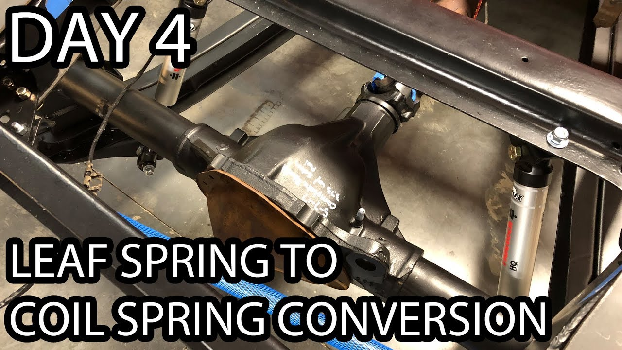 72 Chevy C10 Coil Spring Conversion Completed Leaf Spring To Coil Spring Conversion Day 4 Youtube