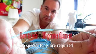 How to join ✂ 3D priฑter filament (No special tools are required)