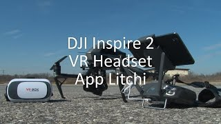 DJI Inspire 2 with VR headset and Litchi App test by www.utcinema.com
