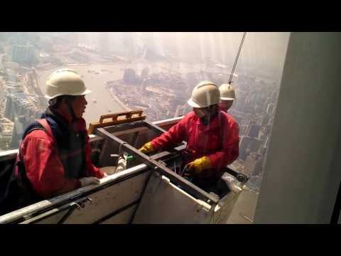 Shanghai Window Cleaners never look down