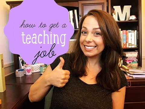 how to get a teaching job