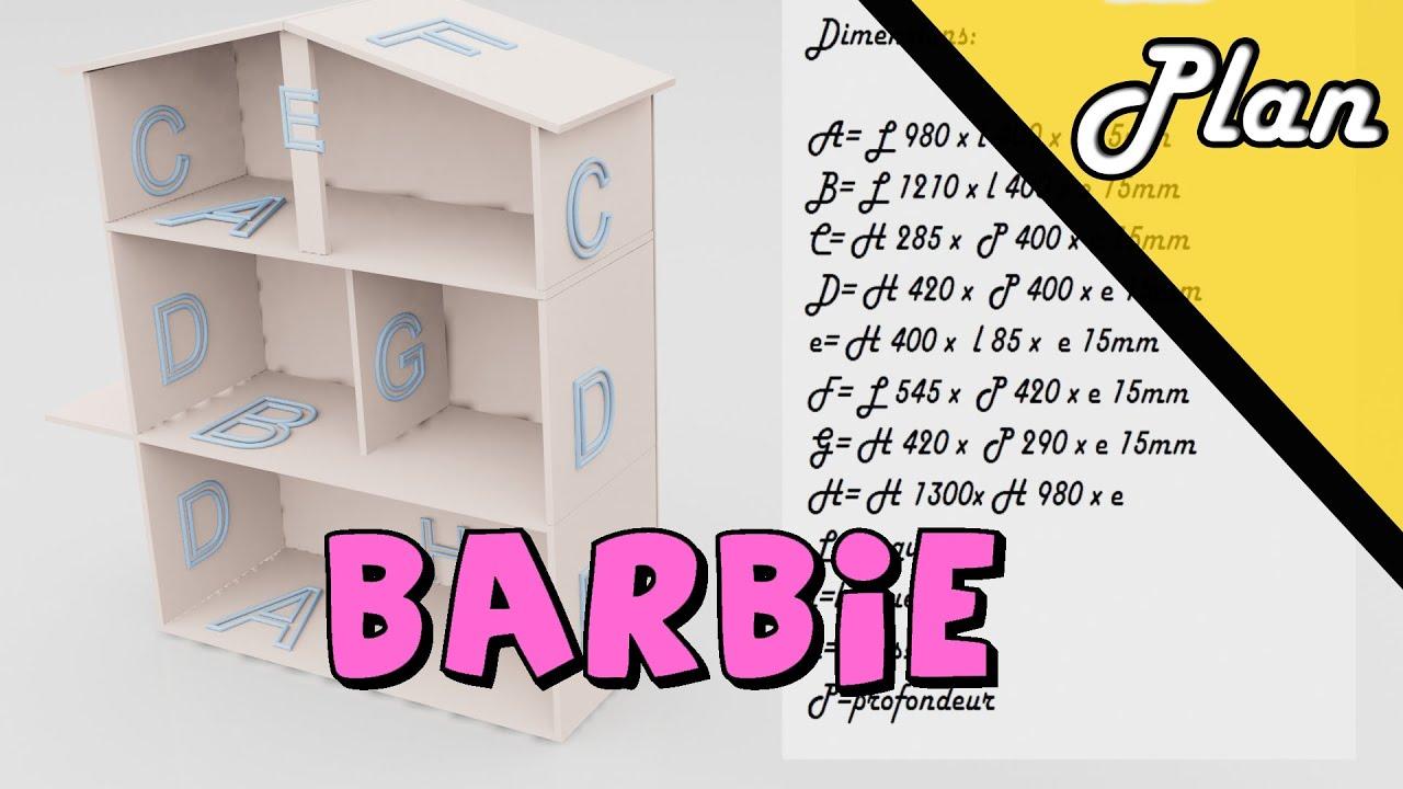 Plan De Construction Maison De Barbie Youtube