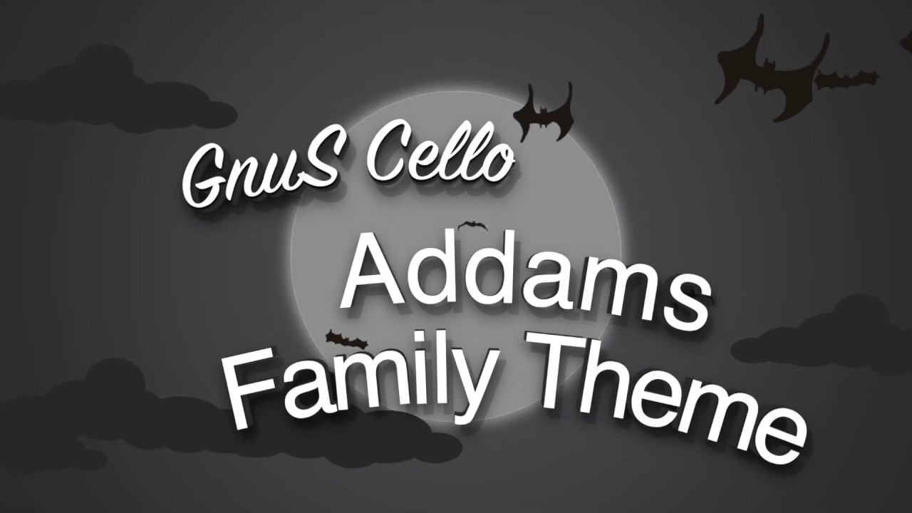 HALLOWEEN 2019 Addams Family Theme for CELLO and PIANO (COVER)