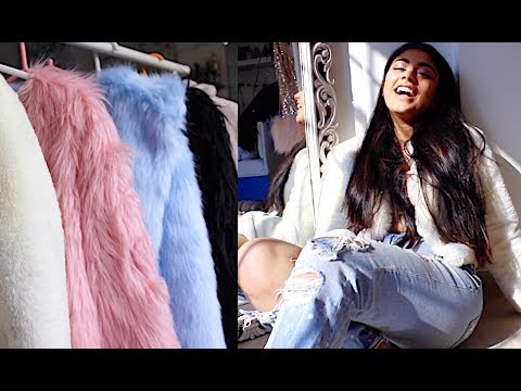 How to Dress Up ANY Basic Outfit! – Fur Coat Outfits || Winter 2018 Trends!