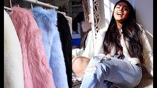 How to Make Any Outfit Look Stylish/ Expensive! - Fur Coat Outfits || Winter 2018 Trends!