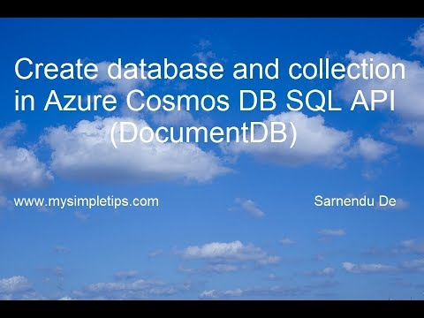 Create database and collection in Azure Cosmos DB SQL API | DocumentDB API
