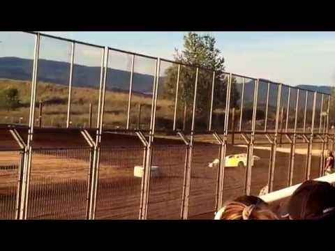 Mark Wauge Heat race win at Southern Oregon Speedway