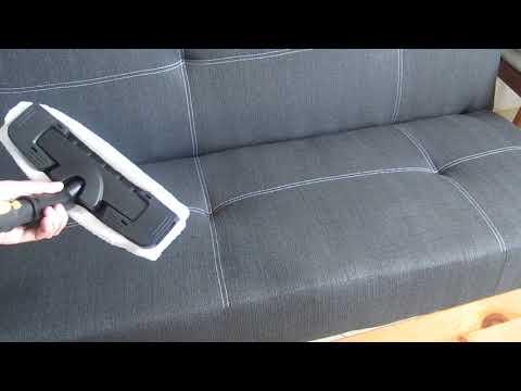 Чистка дивана, ковра и подушек пароочистителем