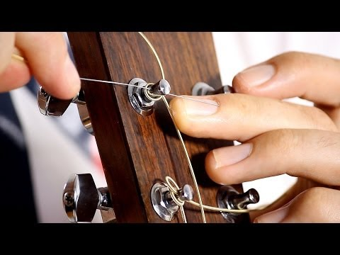 How to put on Guitar Strings - Acoustic Guitar Maintenance